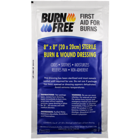 "BurnFree - Sterile Burn & Wound Dressing 8"" x 8"""