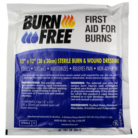 "BurnFree - Sterile Burn & Wound Dressing 12"" x 12"""