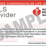 AHA - Advanced Cardiovascular Life Support (ACLS)